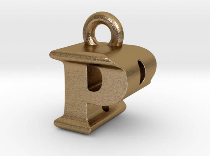 3D Monogram Pendant - PBF1 3d printed