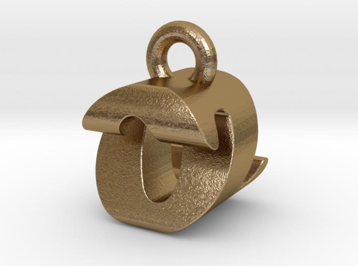 3D Monogram Pendant - OZF1 3d printed