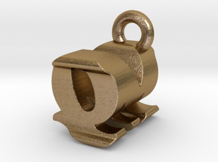 3D Monogram - QMF1 3d printed