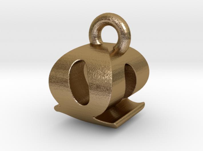 3D Monogram - QOF1 3d printed