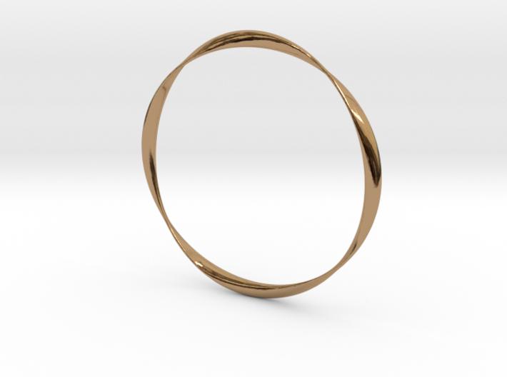 Twisted Bangle Bracelet LARGE 3d printed
