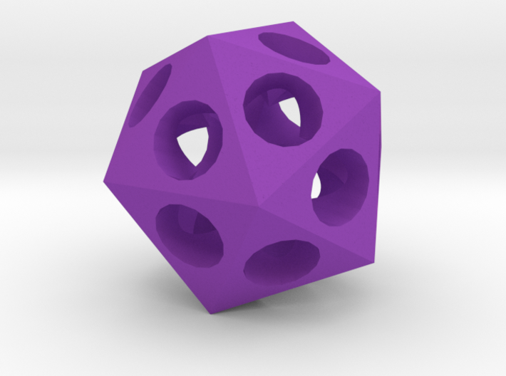 Pendant - Icosahedron 3d printed