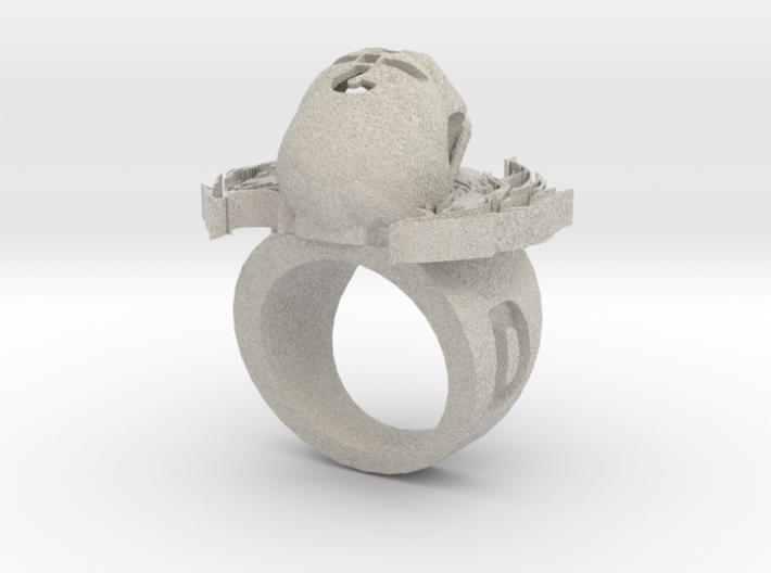 new skull ring 3d printed