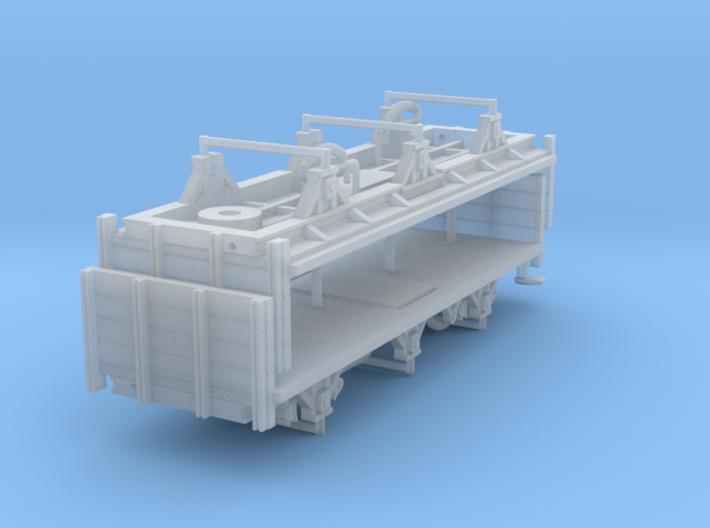 ZB (H0e) - 3ax-Stirnwandwagen - Kombi 3d printed