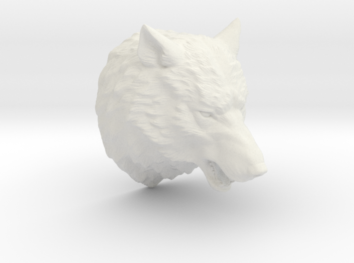 Angry Wolf Wall Mount 3d printed