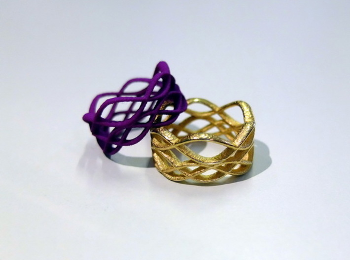 Skaters Ring 3d printed Lilla S&F P and Goldsteel rings