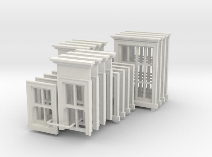 Georgian Windows Full Set - 4mm 3d printed