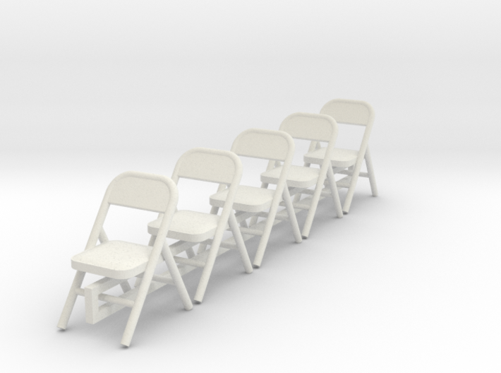 5 1:48 Metal Folding Chairs 3d printed