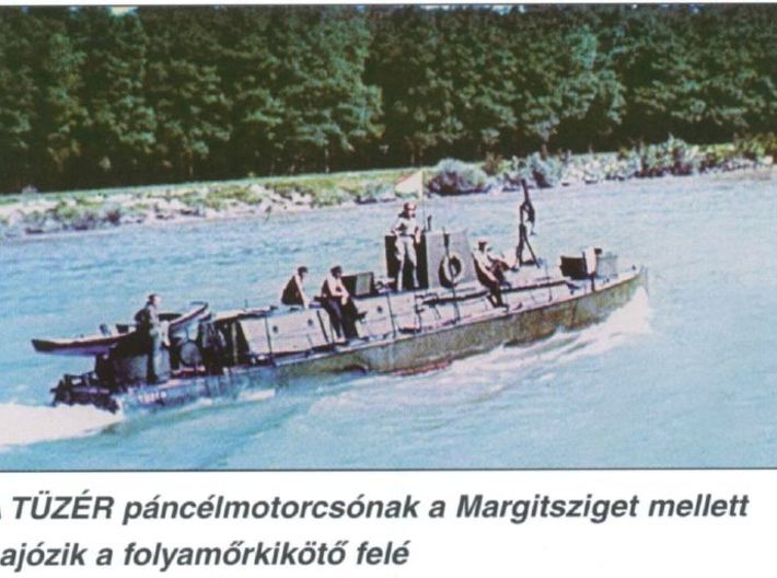 1/56th (28 mm) scale WW2 Hungarian armoured boat 3d printed Tüzér on Danube