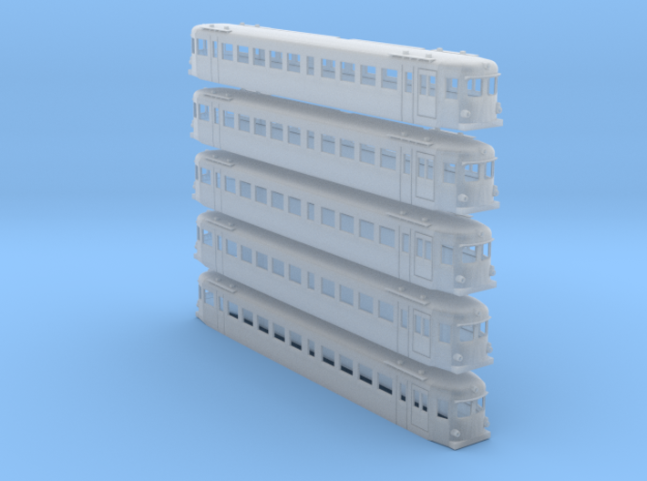 Triebwagen 4042 160 5x 3d printed
