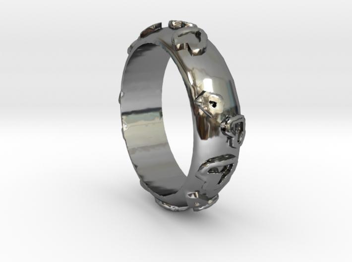 Leopard Print Ring - Sz. 7 3d printed