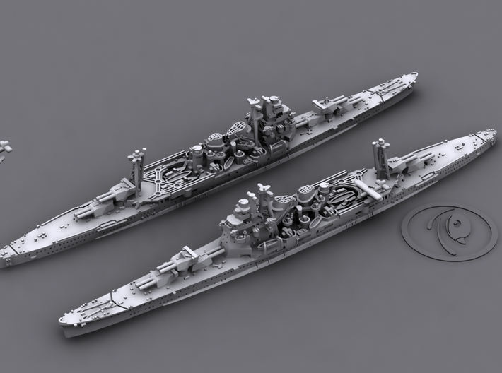 1/1800 IJN CA Takao[1942] 3d printed 3D software render, aircraft not included
