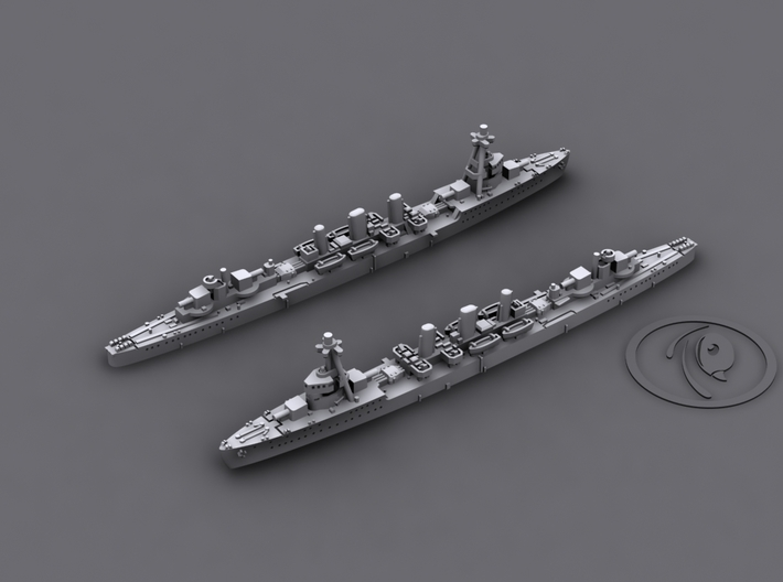 1/1800 IJN CL Tenryu[1942] 3d printed 3D software render