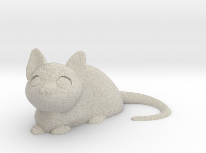 Cat lying down 3d printed