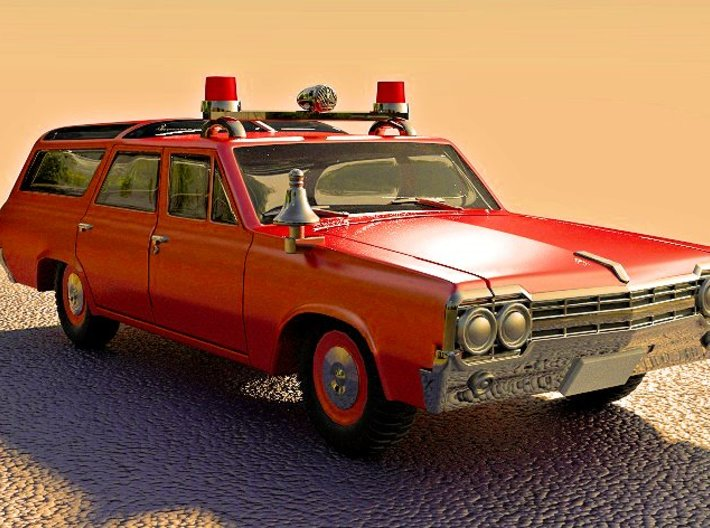 Fire Chief's Car (1:87) 3d printed Add a caption...