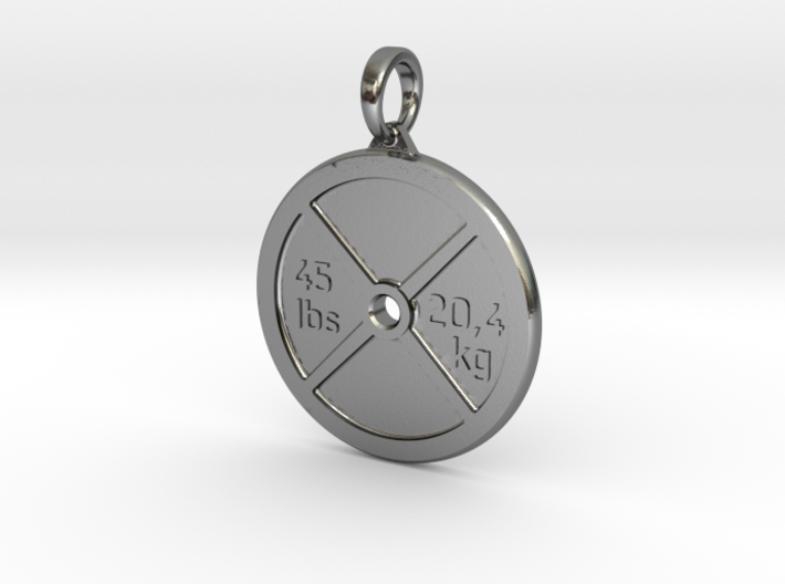 Pendant V9 - Weigth Plate with text 3d printed