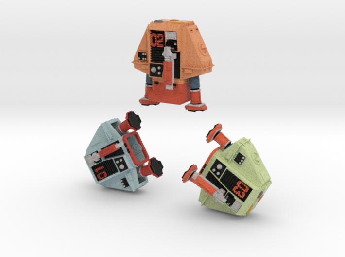 1-25 Full Color Three Silent Robots 3d printed