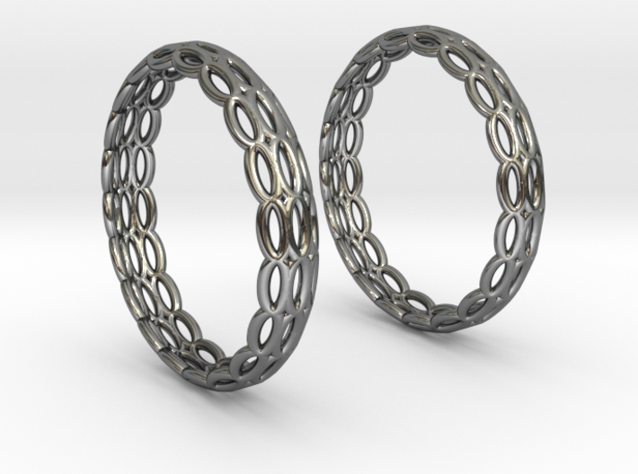 Wired Beauty 4 Hoop Earrings 30mm 3d printed