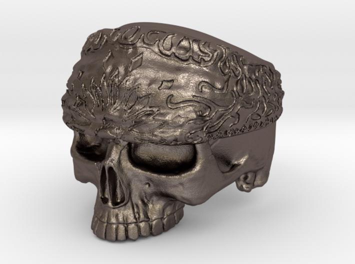 Ring SkullBandana Size - 8 3d printed