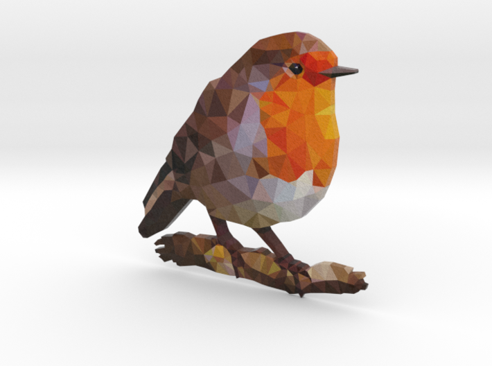 Poly Red Robin Bird 3d printed