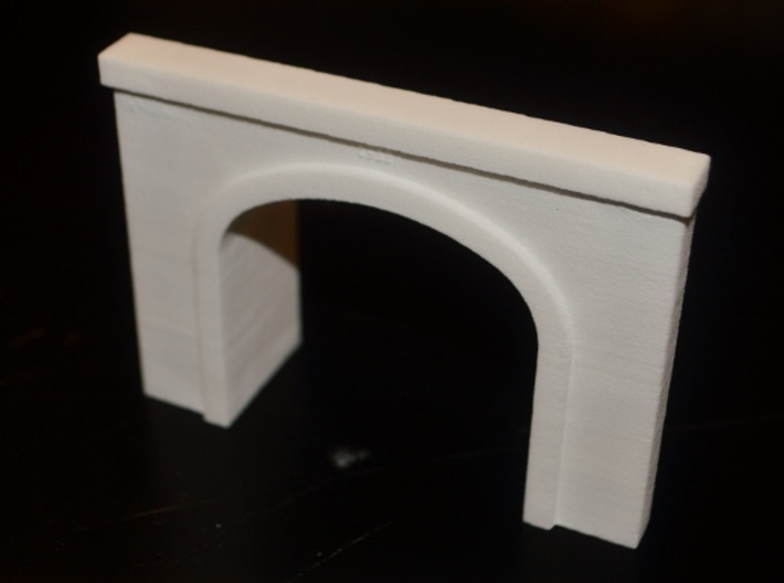 N-Scale UP Columbia River Portal 3d printed Production Photo - Unpainted