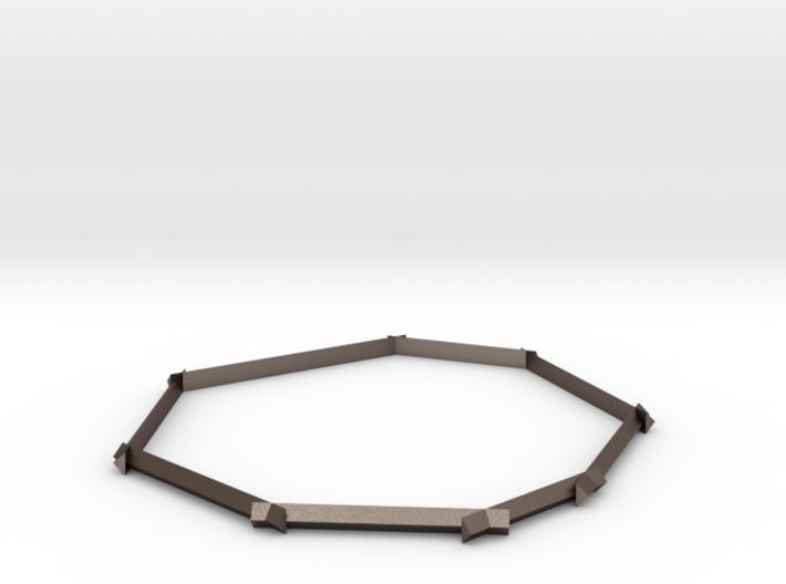 Geometric Bangle 3d printed