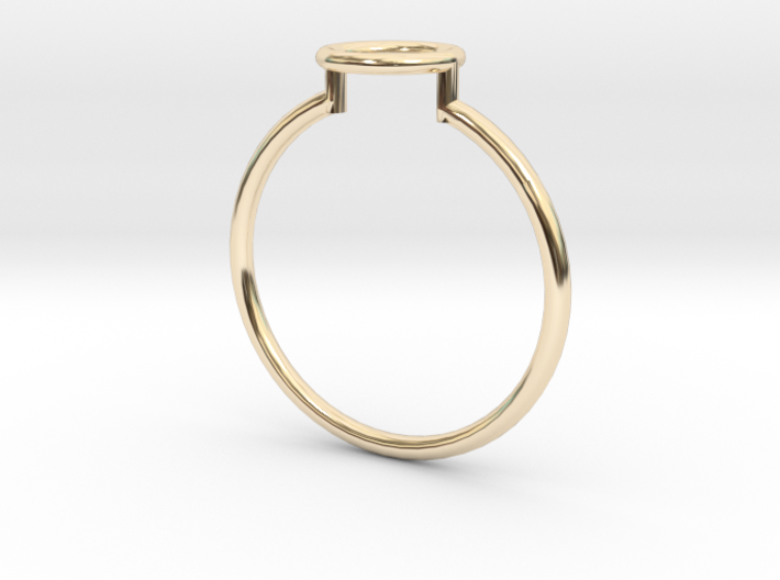 Open Circle Ring Sz. 6 3d printed