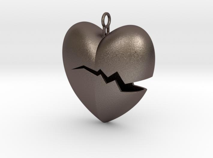 Broken Heart Pendant 3d printed