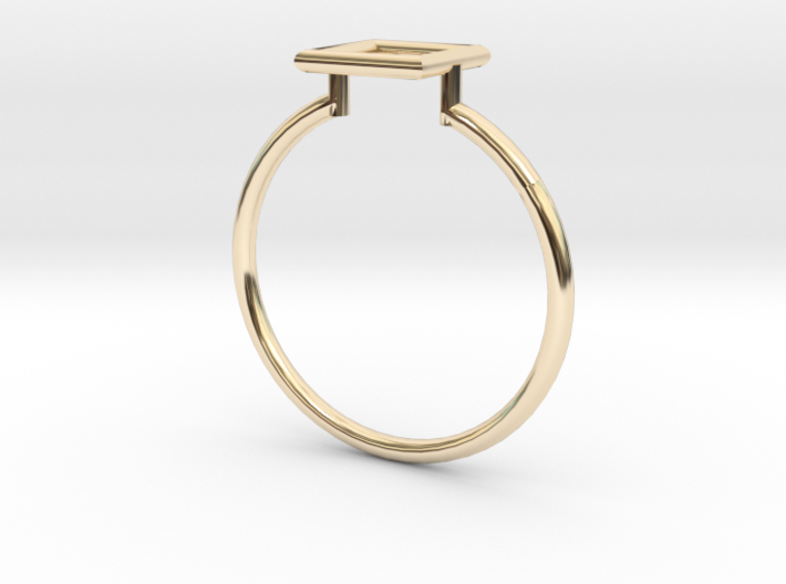 Open Square Ring Sz. 8 3d printed