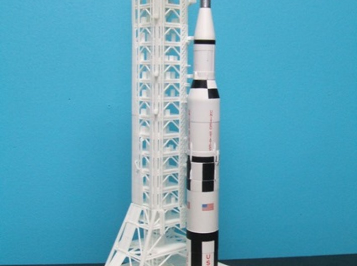 1/400 Saturn 1B MLP, Apollo launch pad 3d printed If you've bought the MLP, you must get the LUT too !