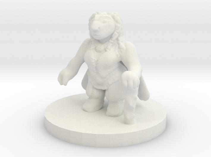 Dwarf Druid Miniature 3d printed