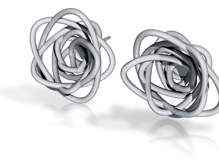 Sprouted Spirals Studs With Post 3d printed