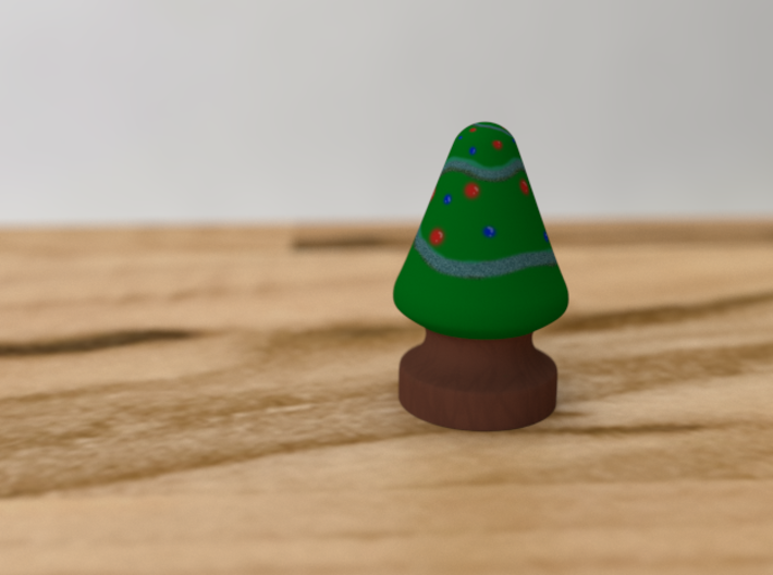 French Christmas Tree 3d printed This is a mockup of the tree printed in full color.