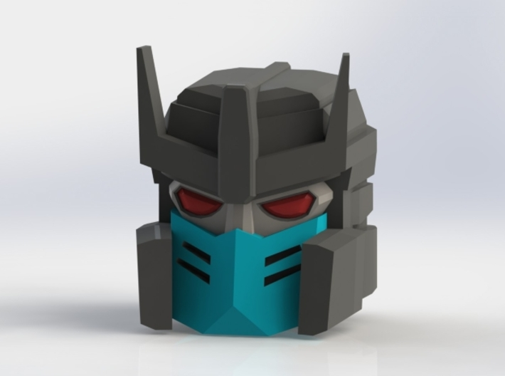 Spinister Head 3d printed