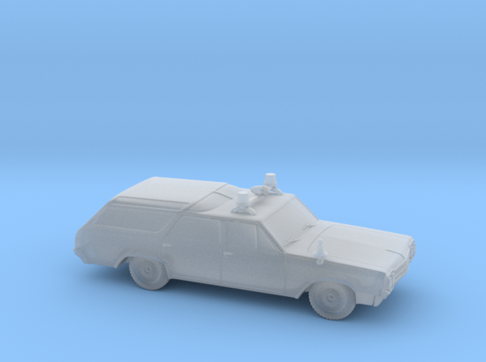 Fire Chief's Car (1:87) 3d printed