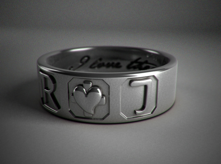 R + J Ring 3d printed 3d render