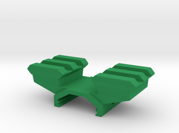 Two-Picatinny-Rails Adapter 3d printed