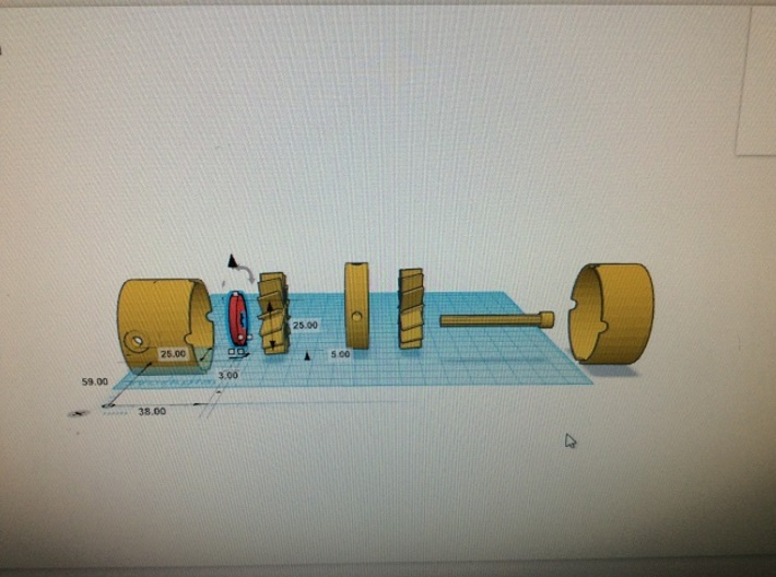 exhaust plate 6mm hole 3mm 3d printed Add a caption...