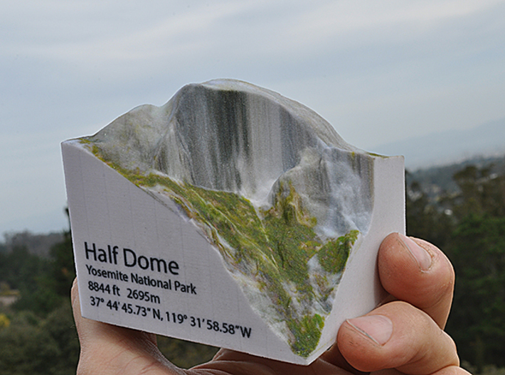 Full Color Half Dome Model 3d Printed Hald In The Palm Of Your Hand