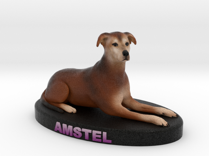 Custom Dog Figurine - Amstel 3d printed