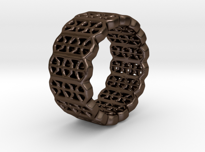 Grid Ring - EU Size 58 3d printed