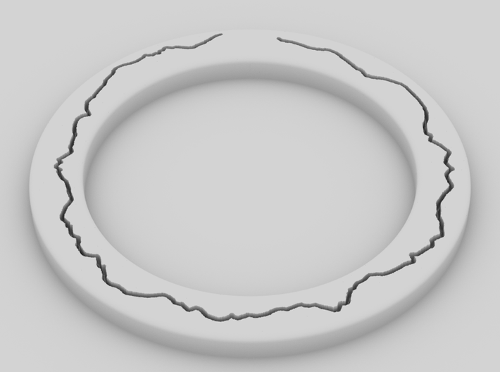 """replacement watch bezel v0.1 3d printed Yafaray """"clay"""" rendering of model"""