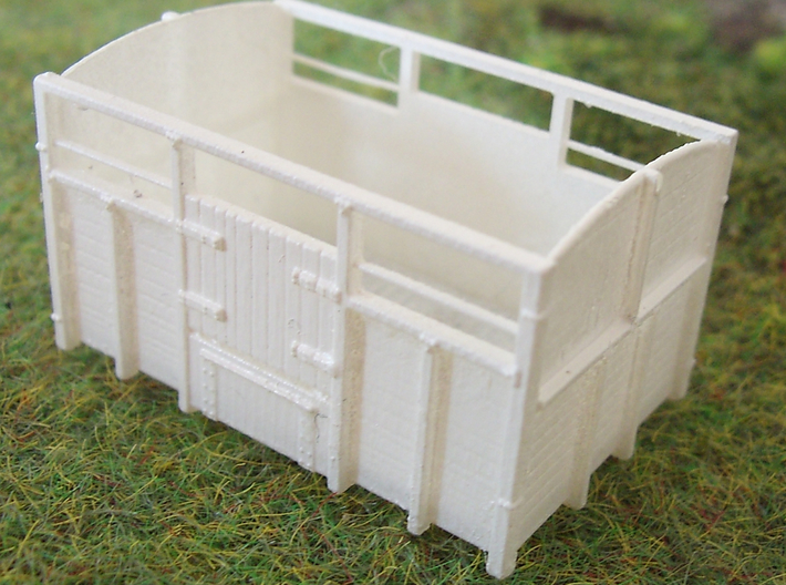 GS CATTLE VAN twin pack 3d printed Assembled and Undercoated