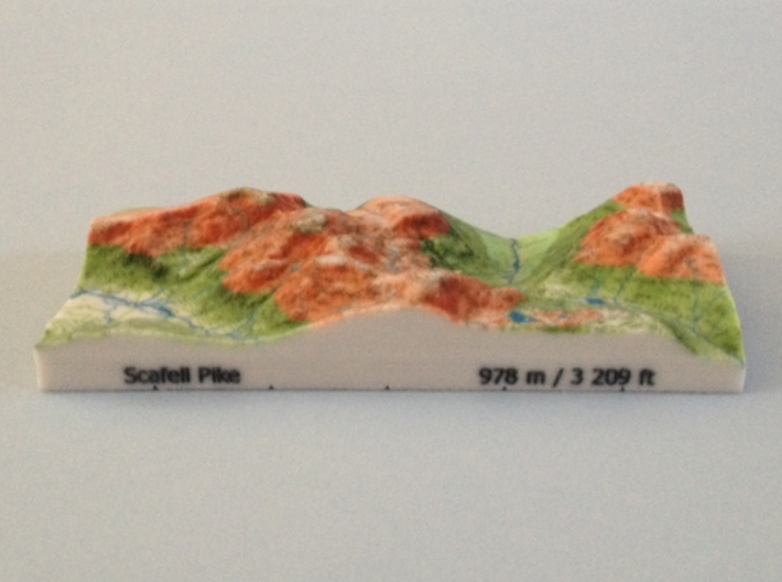 Scafell Pike - Relief 3d printed Photoof Scafell Pike - Relief model