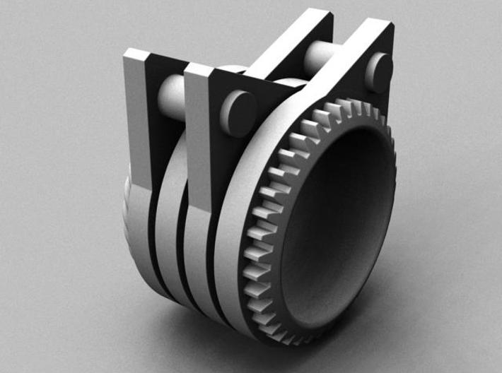 Steely Cat Ring - Size 8 (18.19 mm) 3d printed