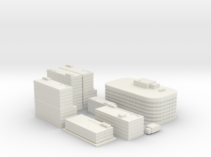 City Building Set (8 in 1)  3d printed