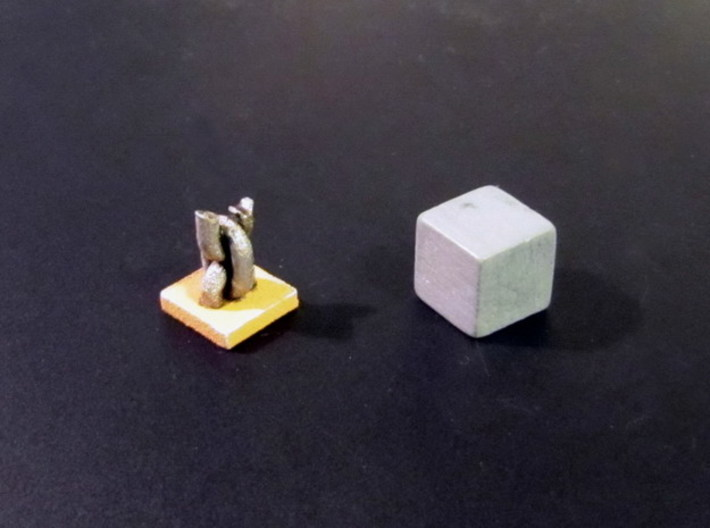 """Freed Slave Tokens (96 pcs) - """"Broken Chain"""" 3d printed Painted token. 10mm cube for scale."""