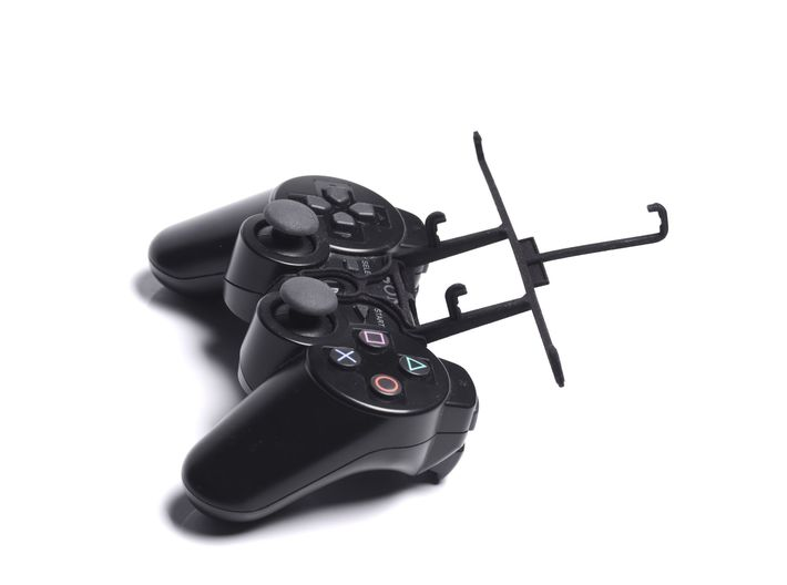 PS3 controller & Spice Mi-438 Stellar Glide 3d printed Without phone - A Samsung Galaxy S3 and a black PS3 controller