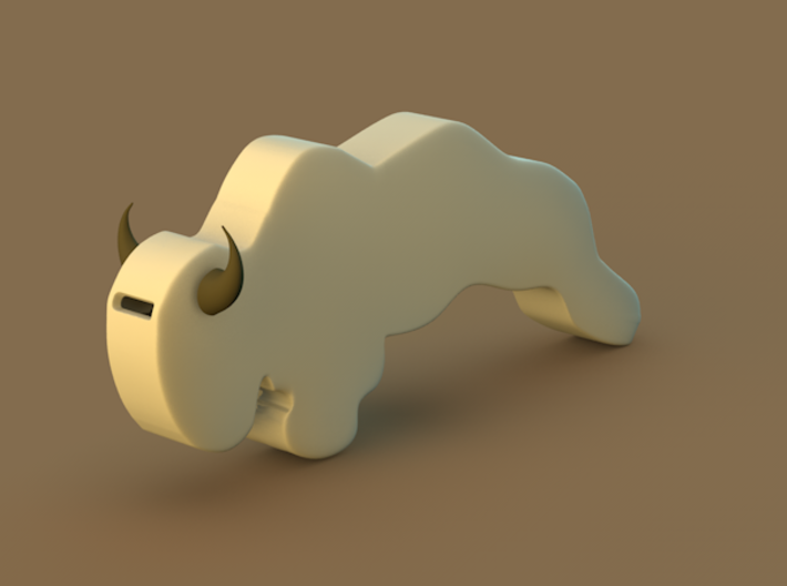 Bison Whistle 3d printed
