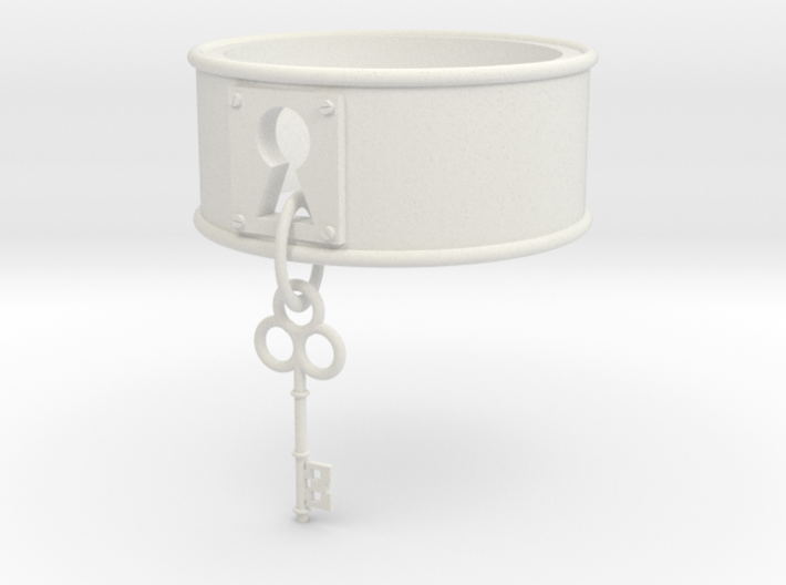 Lock And Key Ring Band Size 8 3d printed